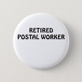 Chapa Redonda De 5 Cm Empleado de correos jubilado