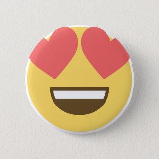 Chapa Redonda De 5 Cm En emoji del smiley del amor