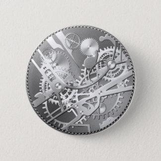 Chapa Redonda De 5 Cm Engranajes del reloj del steampunk de la astilla