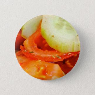 Chapa Redonda De 5 Cm Ensalada del tomate y del pepino