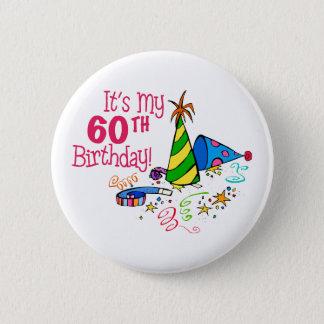Chapa Redonda De 5 Cm Es mi 60.o cumpleaños (los gorras del fiesta)
