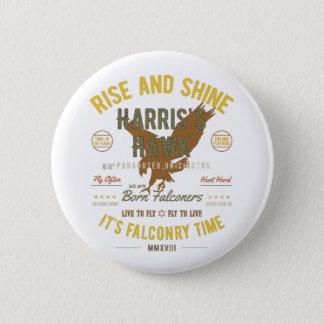 Chapa Redonda De 5 Cm ¡Es tiempo de la cetrería! El halcón de Harris