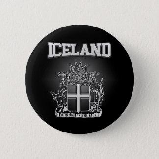 Chapa Redonda De 5 Cm Escudo de armas de Islandia