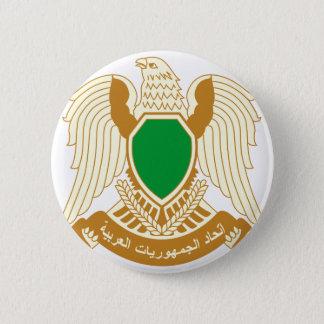 Chapa Redonda De 5 Cm Escudo de armas de Libia