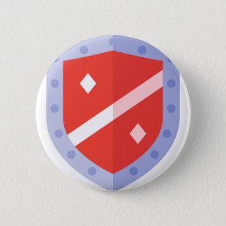 Chapa Redonda De 5 Cm Escudo de la defensa
