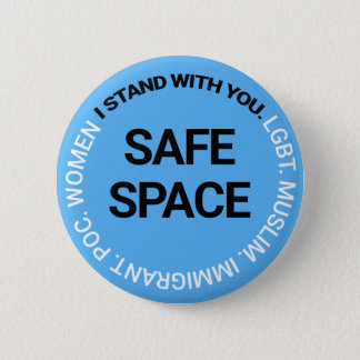 Chapa Redonda De 5 Cm Espacio seguro para cada uno