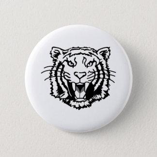 Chapa Redonda De 5 Cm Esquema de los tigres