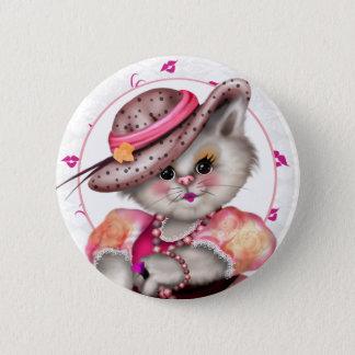 Chapa Redonda De 5 Cm Estándar de SEÑORA CAT CUTE CARTOON, pulgada de 2
