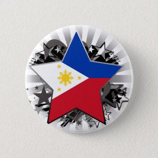 Chapa Redonda De 5 Cm Estrella de Filipinas