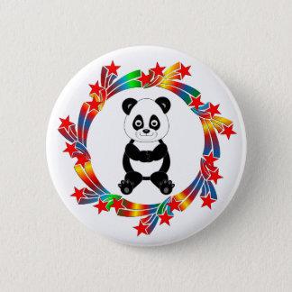 Chapa Redonda De 5 Cm Estrellas de la panda