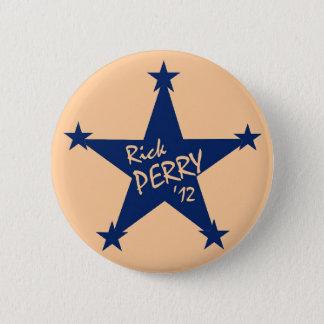 Chapa Redonda De 5 Cm Estrellas de Rick Perry