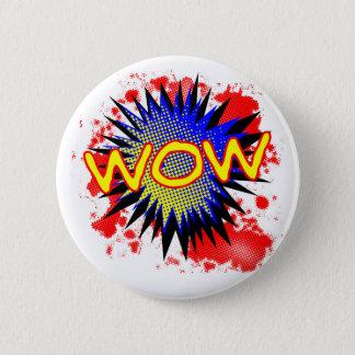 Chapa Redonda De 5 Cm Exclamación cómica del wow