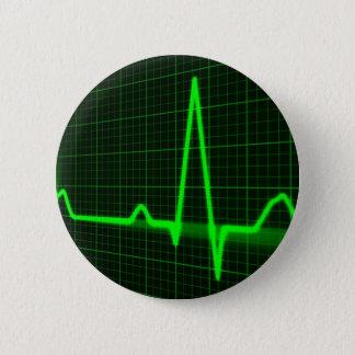 Chapa Redonda De 5 Cm exhibición del pulso