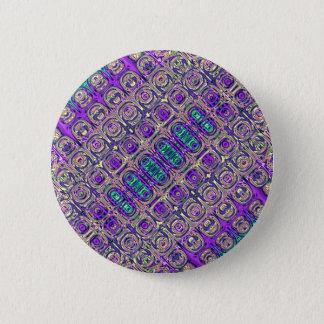 Chapa Redonda De 5 Cm Extracto colorido de las cuentas de cristal