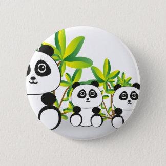 Chapa Redonda De 5 Cm Familia de la panda