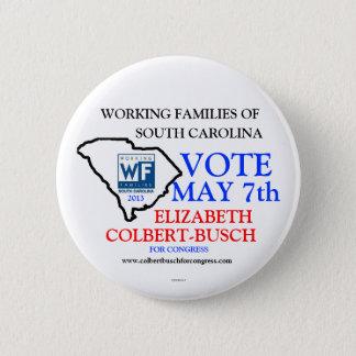 Chapa Redonda De 5 Cm Familias trabajadoras para Elizabeth Colbert Busch