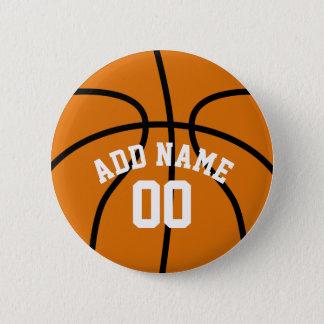 Chapa Redonda De 5 Cm Fan de baloncesto con número conocido de encargo