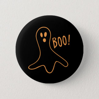 Chapa Redonda De 5 Cm Fantasma lindo Booo de Halloween