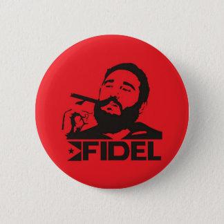 Chapa Redonda De 5 Cm Fidel Castro