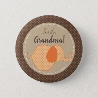 Chapa Redonda De 5 Cm Fiesta de bienvenida al bebé neutral rústica soy