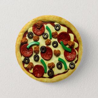Chapa Redonda De 5 Cm Fiesta de cumpleaños de la pizza de los niños