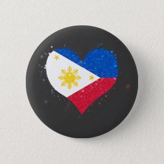 Chapa Redonda De 5 Cm Filipinas señalan el brillo por medio de una