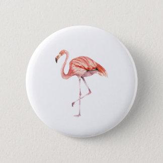 Chapa Redonda De 5 Cm Flamenco rosado