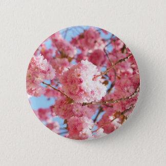 Chapa Redonda De 5 Cm Flor de cerezo japonesa rosada
