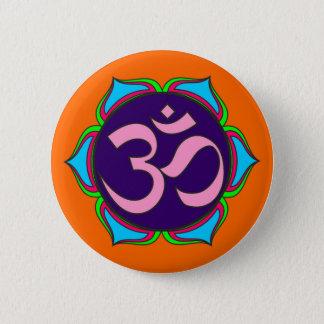 Chapa Redonda De 5 Cm flor sagrada de la yoga del zen de la religión del