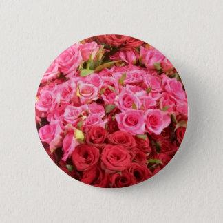 Chapa Redonda De 5 Cm Flores en los rosas de Filipinas, rosados y rojos