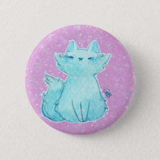 Chapa Redonda De 5 Cm Fluffy Cat Pin