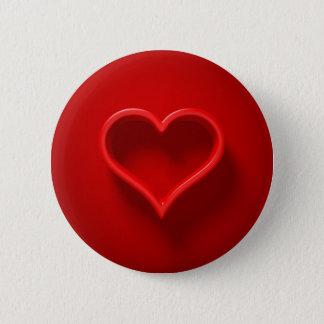 Chapa Redonda De 5 Cm forma de cardíaco con luz y sombra Button