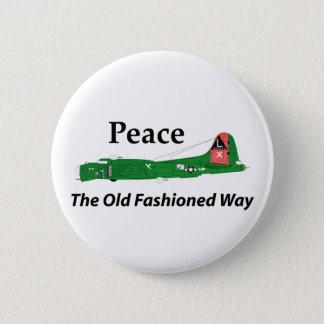 Chapa Redonda De 5 Cm Fortaleza del vuelo B-17 - paz la manera pasada de