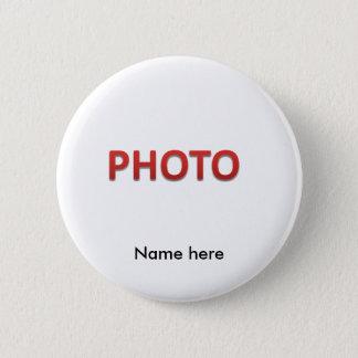 Chapa Redonda De 5 Cm Foto conmemorativa personalizada