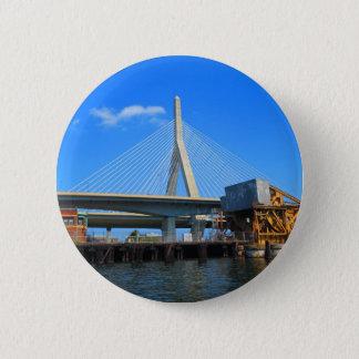 Chapa Redonda De 5 Cm Foto del puente de Boston en los regalos