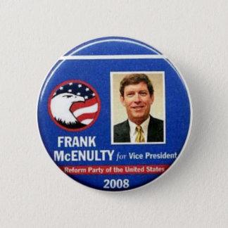 Chapa Redonda De 5 Cm Frank McEnulty para vicepresidente Button