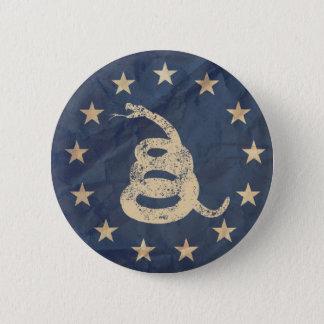 Chapa Redonda De 5 Cm Gadsden y bandera de los E.E.U.U. 1776