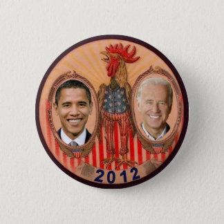 Chapa Redonda De 5 Cm Gallo 2012 de Obama Biden