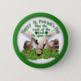Chapa Redonda De 5 Cm Gansos del día de St Patrick afortunado