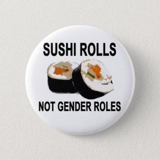 Chapa Redonda De 5 Cm Género roles.png de los papeles del sushi no