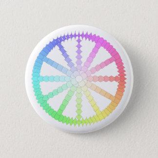 Chapa Redonda De 5 Cm geometría de la rueda de la evolución del polígono