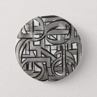 Chapa Redonda De 5 Cm Geométrico abstracto pintada Gris-Mano rugosa