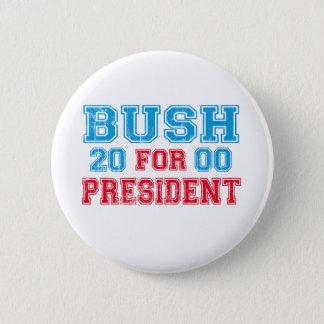 Chapa Redonda De 5 Cm George Bush 2000 retro