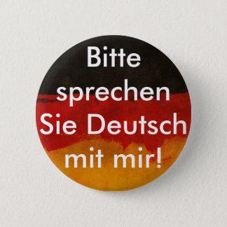 Chapa Redonda De 5 Cm German learner button