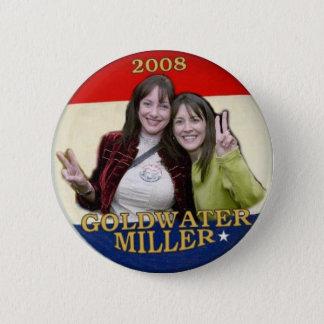 Chapa Redonda De 5 Cm Goldwater 2008/botón de Miller