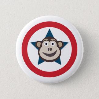 Chapa Redonda De 5 Cm Gráfico estupendo del mono