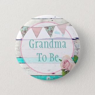 Chapa Redonda De 5 Cm Grandm a ser Pin rústico de la fiesta de