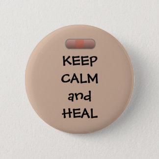 Chapa Redonda De 5 Cm Guarde la calma y cure