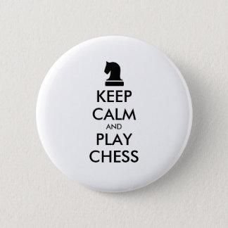 Chapa Redonda De 5 Cm Guarde los botones del pinback del ajedrez de la