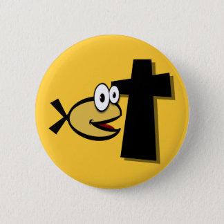 Chapa Redonda De 5 Cm Guarde sus ojos en la cruz